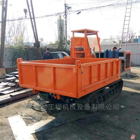 内江履带运输车厂家生产,带翻斗自卸履带车