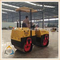 小型三吨压路机采用全液压双钢轮振动配置