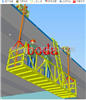 BDT-1000桥梁侧面安装水管平台